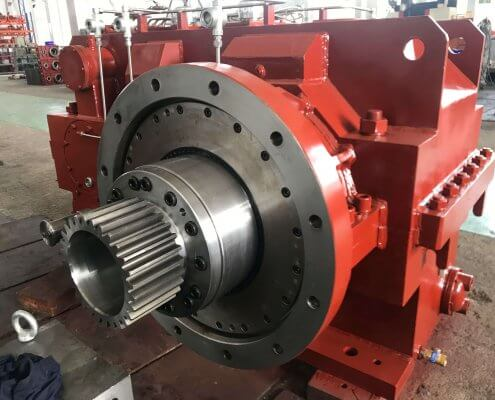 Helical or bevel-helical gearbox for two-roll mill china
